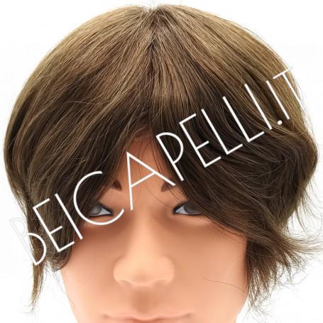 0.10mm Colore 6 biondo scuro protesi capelli uomo in pellicola