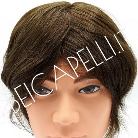 0.10mm Colore 4 castano chiaro protesi capelli uomo in pellicola