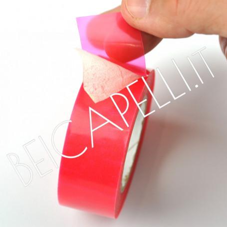 Biadesivo petalo rosso 5mt